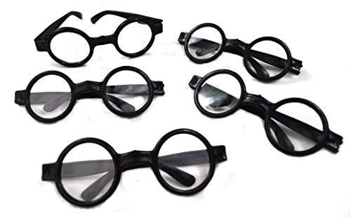 Dazzling Toys Wizard Glasses - Great accessory for a wizard (Harry Potter) birthday party, 12 Pack - 1
