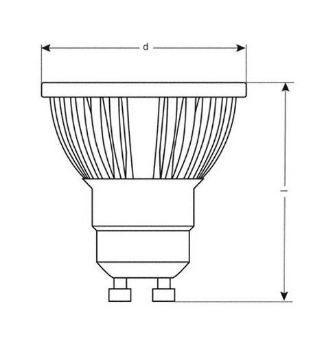 Osram 26821B1  Parathom LED Par 16, GU10 80328-01 LED-Lampe in Reflektorform 5W/100V-240V, warmweiß