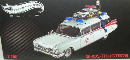 Hot Wheels Elite Edition Ghostbusters ECTO-1 1:18 Scale Diecast Model Car