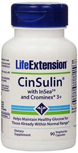 Life Extension Cinsulin Vegetarian Capsules, 90-Count