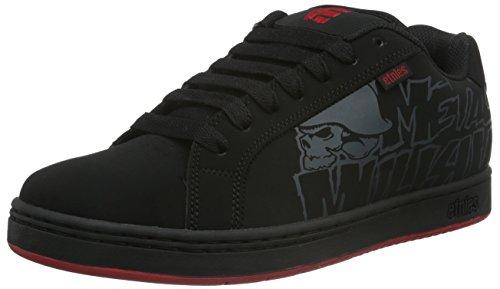 Etnies Men's Metal Mulisha Fader Skateboarding Shoe, Black/Black/Red, 11 M US