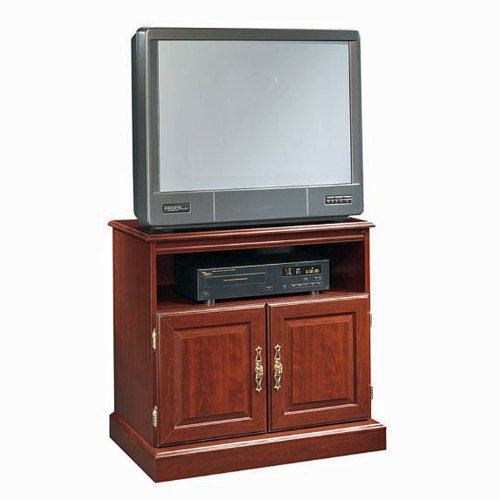 Classic Cherry Mobile TV Stand Heritage Hill Classic Cherry Collection by Sauder Office Furniture -