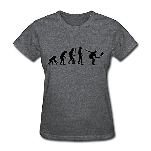 Women Squash Evolution Organic Cotton T-Shirt Size Xl Color Deepheather