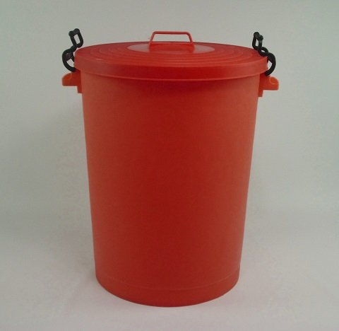 110 Litre Red Bin/Refuse Bin With Lockable Lid (made in the uk)
