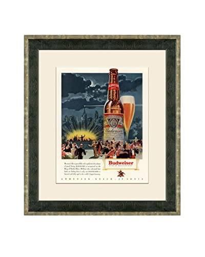 Vintage 1936 Budweiser Advertisement, Multi, 21″ x 18″