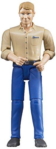 Bruder Man with Light Skin/Blue Jeans Toy Figure
