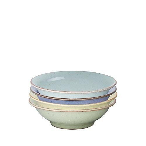 덴비 헤리티지 스몰 셸로우 볼 4개 세트 (반찬그릇 용) Denby USA Heritage Assorted Small Shallow Bowls (Set of 4), Multicolor