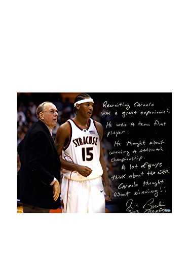 Steiner Sports Memorabilia Jim Boeheim Autographed Recruiting Carmelo Story Photo