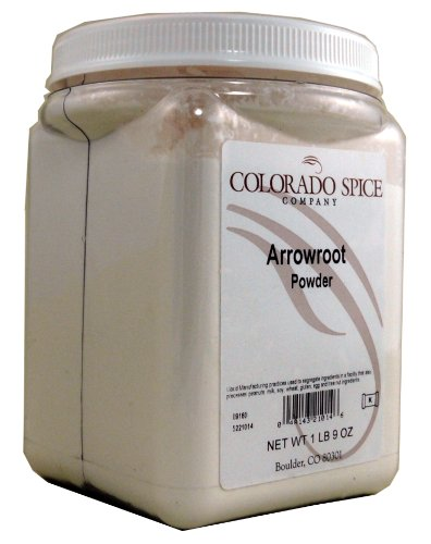 Colorado Spice Arrowroot Powder, 1 Lb 9-Ounces Jars (Pack of 2)