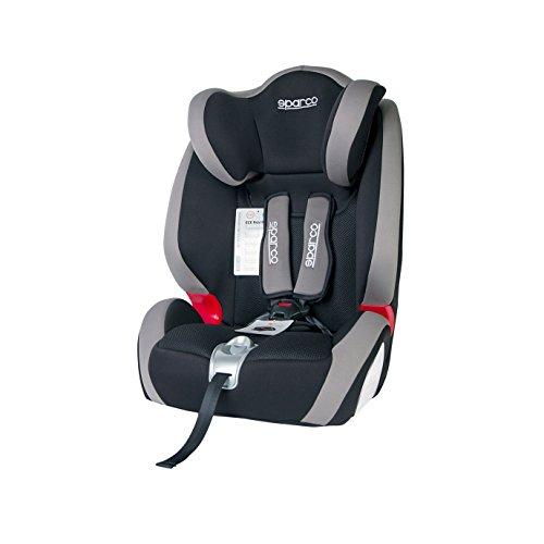 SPC SPC3005GR Seggiolino Auto Per Bambini Modello F1000K Sparco Grigio Gruppo 1,2,3