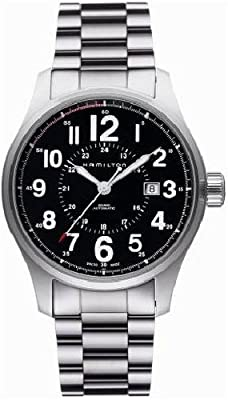 Hamilton Men's H70615133 Khaki Field Officer Black Dial Watch