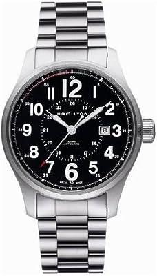 Hamilton Men's H70615133 Khaki Field Officer Black Dial Watch by Hamilton