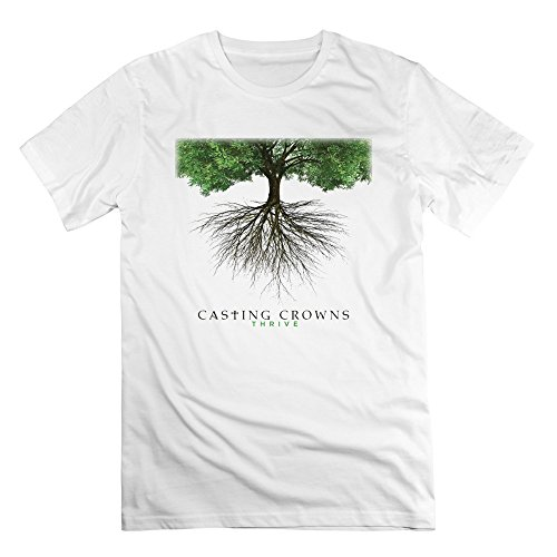 SAVIS 100% Cotton Man Christian Rock Band Casting Crowns Just Be Held T-Shirts White (Casting Crowns Tickets compare prices)
