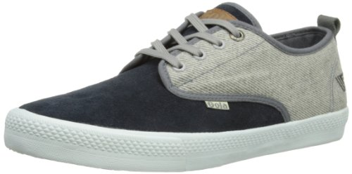 Gola Mens Falcon Tweed Mix Low-Top CMA 556 Dark Grey Tweed/Black 9 UK, 43 EU