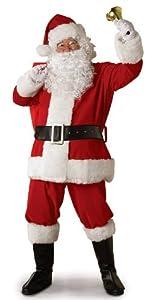 Rubie's Costume Regal Plush Santa Suit, Red/White, Large Costume