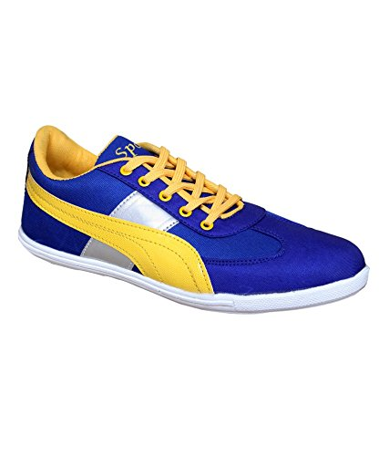 Sukun Blue & Yellow Casual Shoes (7, Blue)  available at amazon for Rs.399