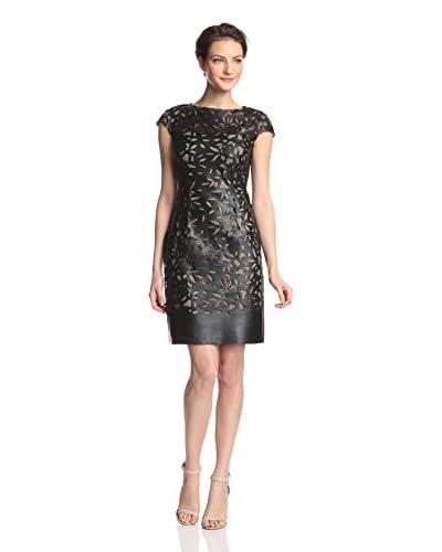 Julia Jordan Women's Faux Leather Sheath Dress