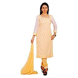 Svg Women Cotton Salwar Suit Set (Kajeri-05-44 _Lemon _44)