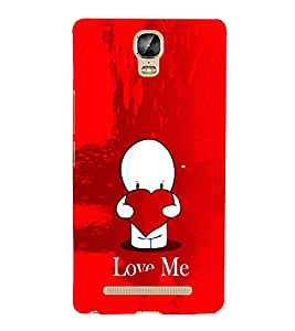 EPICCASE Love Me Mobile Back Case Cover For Gionee Marathon M5 Plus (Designer Case)