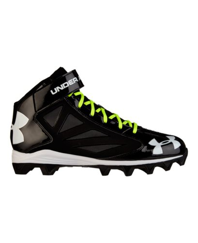 New Under Armour Crusher 1249793 Size Mens 10.5 Football Cleats Black/Black