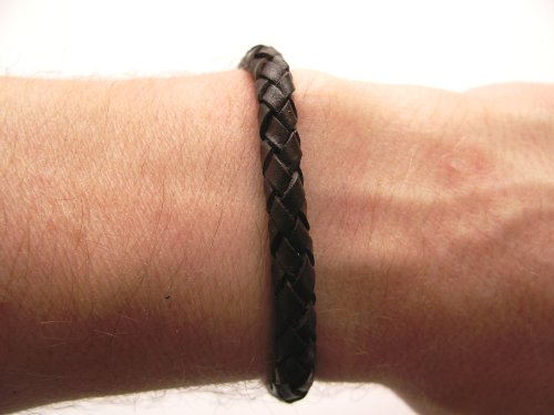 Mens or Womens hemp unisex urban surfer Brown leather friendship bracelet