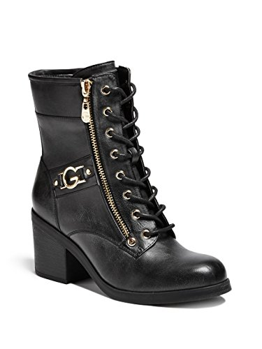 G by GUESS Womens Anisoni Logo Combat Boots