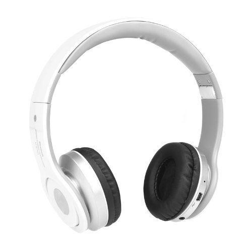 Docooler Foldable Wireless Bluetooth Stereo Headphone Headset Mic Fm Tf Slot For Iphone Ipad Pc White (White)