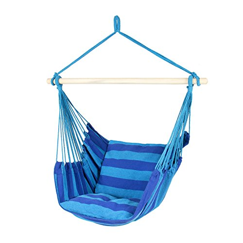 Adorox Hanging Rope Hammock Patio Porch Chair Swing Outdoor Camping (Blue/Teal (1 Hammock))