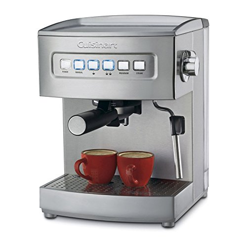 CuisinartStainless Steel Fully Automatic Espresso Machine - Cuisinart Model - EM-200 - Set of 2 Gift Bundle