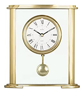Amazon.com: Acctim 36358 Welwyn Mantel Clock, Gold: Home & Kitchen