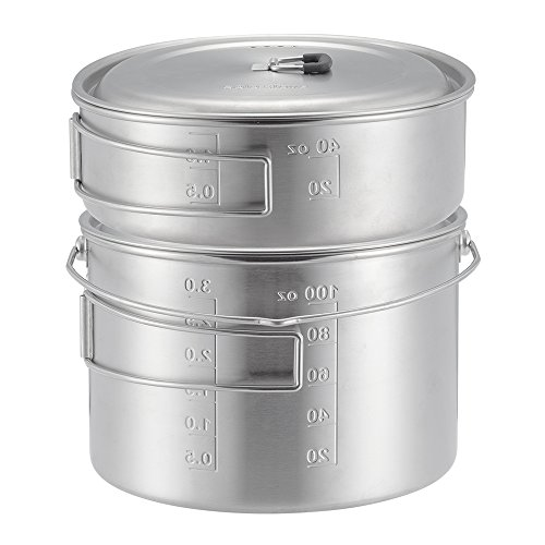 Solo Stove 2 Pot Set: Stainless Steel Companion