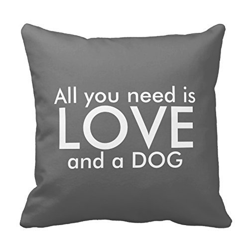 Lovely All You Need Is Love and a Dog Pillow Decorative Pillowcase Throw Pillow Cushion Cover Flower Pattern Design Cushion Cover Pillow Case Collection