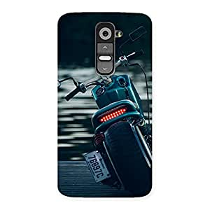 Premium Cruise Bike Multicolor Back Case Cover for LG G2