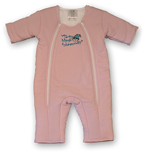 Baby Merlin's Magic Sleepsuit Cotton Poly- Pink- Small