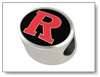 Rutgers University Bead Premium Series Fits Most Euorpean Style Bracelets Including Chamilia Troll and More. This High Quality Bead is Made In The U.S.A.