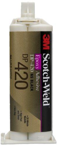 3M Scotch-Weld Epoxy Adhesive DP420 Black, 1.25 fl oz (Pack of 1)