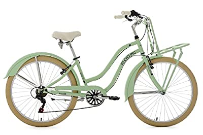 "Cargo Beach Cruiser 26"" Melba Mint Green 6 Gear KS Cycling"