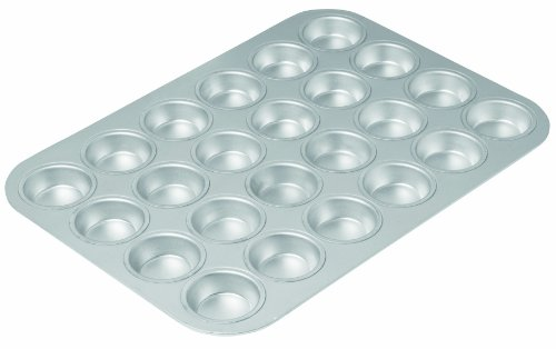 Chicago Metallic 49024 Commercial II Traditional Uncoated 24-cup Mini Muffin Pan