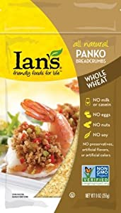 Ian's Natural Panko Bread Crumbs Whole Wheat 9.0 OZ (Pack of 6)