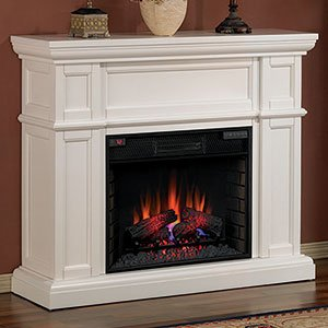 ClassicFlame Artesian Infrared Electric Fireplace Mantel Package in White - 28WM426-T401 image B0055GQQ52.jpg