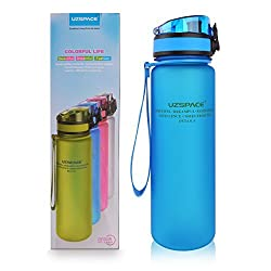 UZSPACE Sports Water Bottle - 18oz Small - Fast Flow, Flip Top Leak Proof Lid w/ One Click Open - Non-Toxic BPA Free & Eco-Friendly Tritan Co-Polyester Plastic