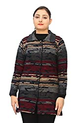 Romano Basic Multi-Coloured 100% Wool Long Length Warm Winter Sweater Cardiga...
