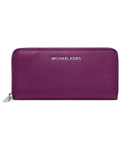 Michael Kors Handbag, Bedford Zip Around Continental Wallet Pomegranate