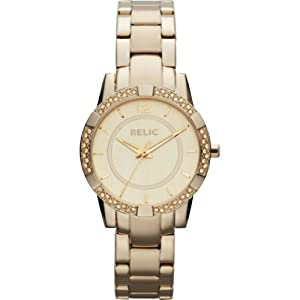 Relic by Fossil Payton Gold Tone Crystal Stainless Steel Womens Watch ZR34202