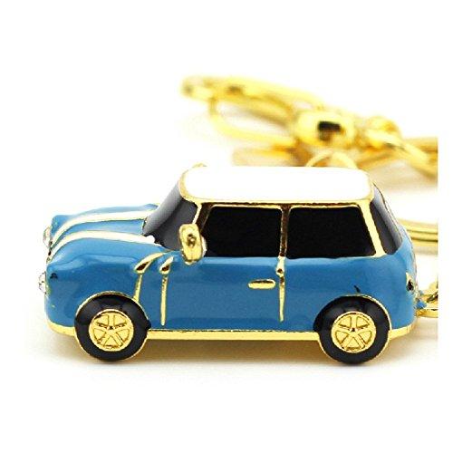 FEBNISCTE 8GB Blue Crystal Mini Car USB 2.0 Flash Drive U Disk