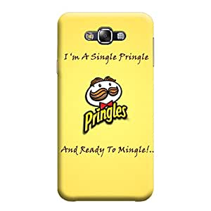 Desicase Samsung E5 Im A Single Pringle And Ready to Mingle 3D Matte Finishing Printed Designer Hard Back Case Cover (Yellow)