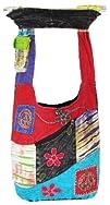 Shangri-La Nook Cotton crossbody Peace Sign Gypsy Bag Handmade