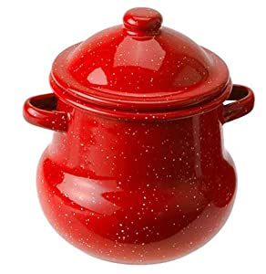 GSI Outdoors Covered Enamelware Sugar Bowl, Red 01262 by GSI