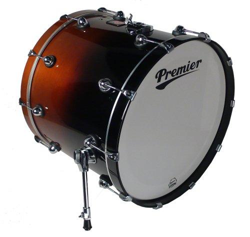 Premier Drums Genista Series 42884Dwfd 1-Piece Maple 24X18 Inches Bass Drum, Drum Set (Dark Walnut Fade)