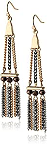 Jessica Simpson Chain Trapeze Drop Earrings